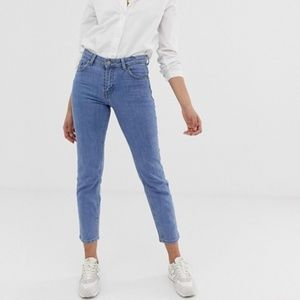 Dr Denim Edie High Rise Cropped Straight Jeans NWT